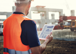 Construction site management on tablet